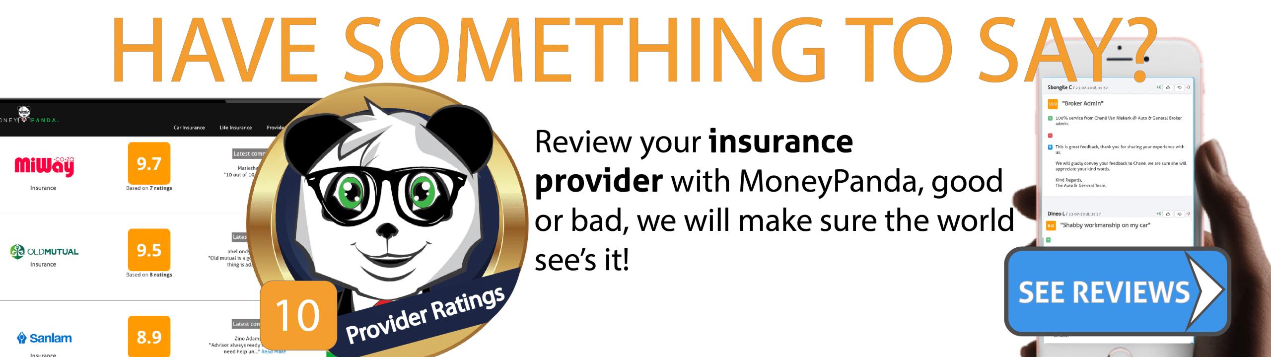 car insurance provider reviews south africa MoneyPanda