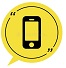 black-smartphone-mobile-phone-icon-isolated-white-background-yellow-speech-bubble-symbol-vector-219912782